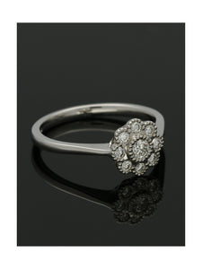 Diamond Cluster Ring 0.33ct Round Brilliant Cut in 9ct White Gold