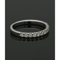 Diamond Half Eternity Ring 0.33ct Round Brilliant Cut in 9ct White Gold