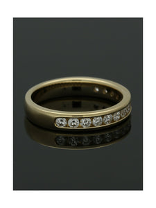 Diamond Half Eternity Ring 0.50ct Round Brilliant Cut in 9ct Yellow Gold