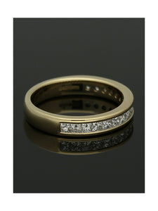 Diamond Half Eternity Ring 0.75ct Princess Cut in 9ct White Gold