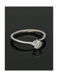 """The Adelaide Collection' Diamond Solitaire Engagement Ring 0.50ct Certificated Round Brilliant Cut in Platinum"