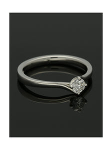 """The Adelaide Collection"" Diamond Solitaire Engagement Ring 0.25ct Round Brilliant Cut in Platinum"