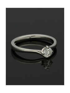 """The Adelaide Collection"" Diamond Solitaire Engagement Ring 0.33ct Round Brilliant Cut in Platinum"