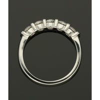 Five Stone Diamond Ring 1.02ct Round Brilliant Cut in Platinum