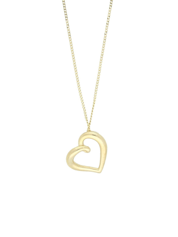 Organic Heart Necklace in 9ct Yellow Gold