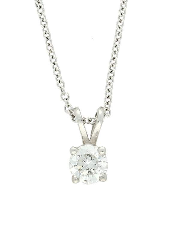 The Charlotte Collection 0.50ct Diamond Round Brilliant Cut Necklace in 18ct White Gold