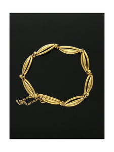 Pre Owned Fancy Link Bracelet in 14ct Yellow Gold