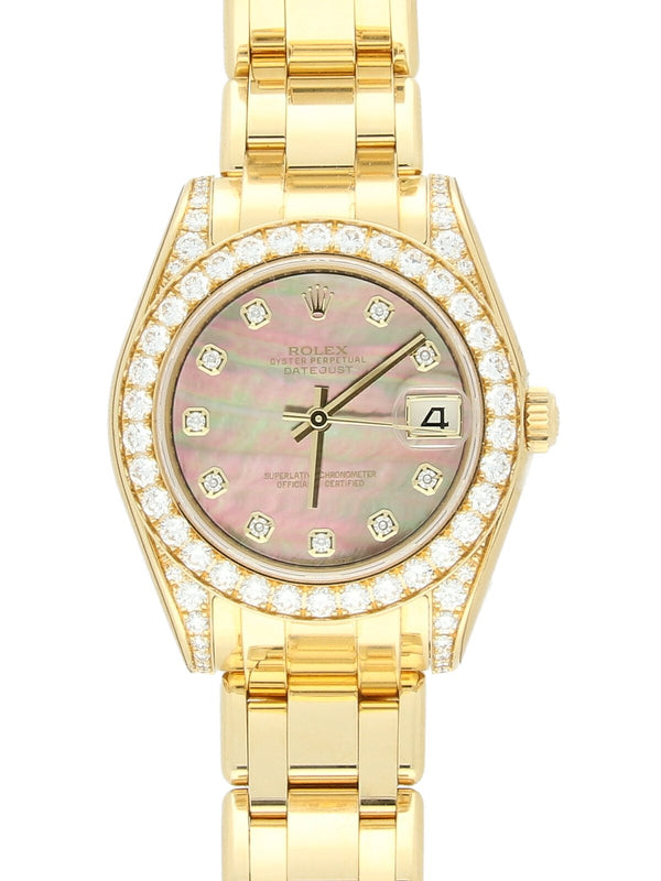 Pre Owned Rolex Pearlmaster 18ct Yellow Gold Ladies Watch on Bracelet