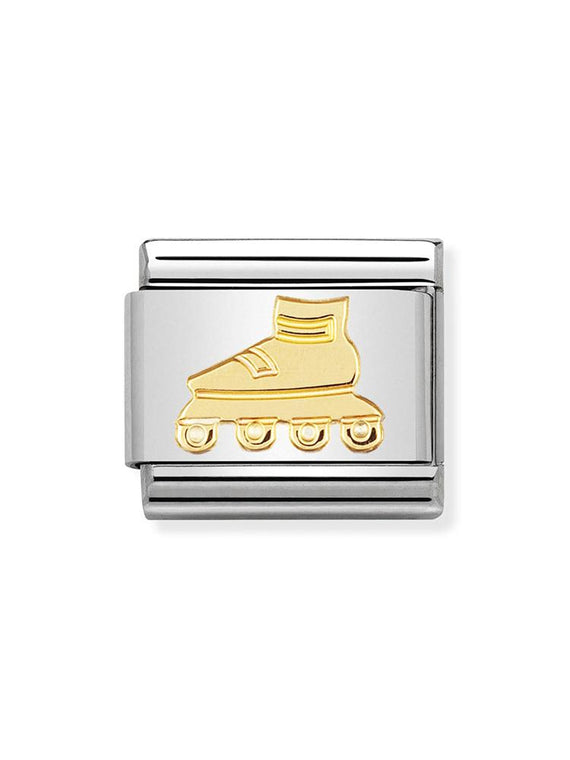 Nomination Classic Steel and Gold Rollerblade Charm 030106-06