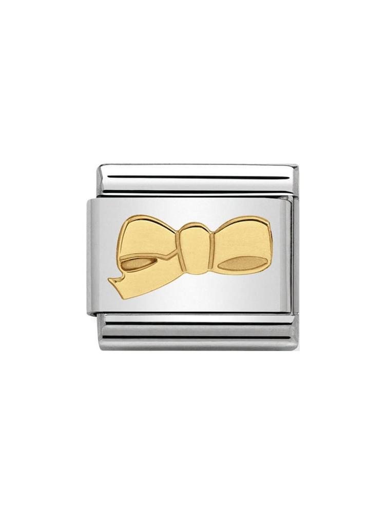 Nomination Classic Cherie Bow Steel and Gold Charm 030109-37