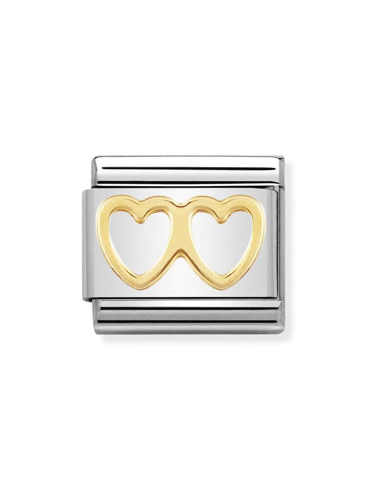 Nomination Classic Double Heart Charm 030116-03