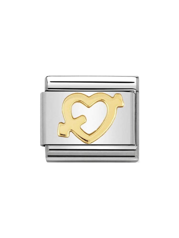 Nomination Classic Pierced Heart Charm 030116-09
