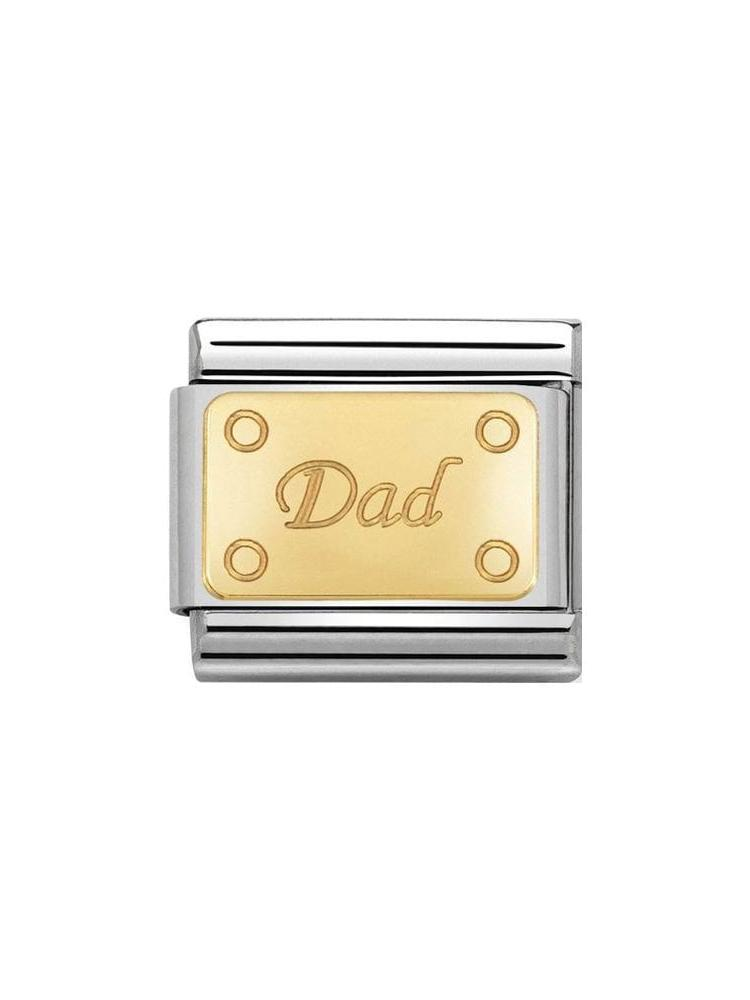 Nomination Classic Steel and Gold Dad Charm 030153-14