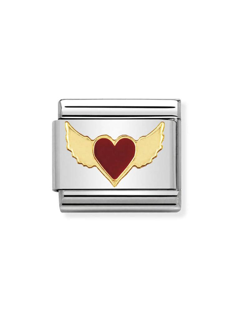 Nomination Red Winged Heart Charm 030207-45