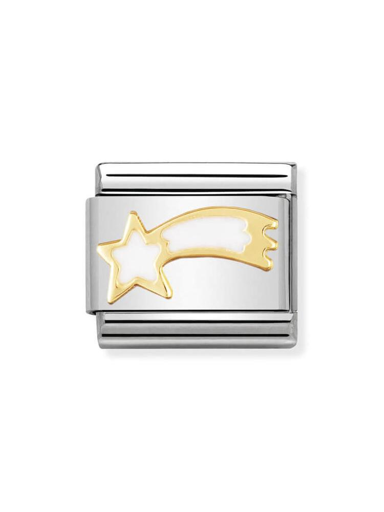 Nomination Classic White Shooting Star Charm 030225-02