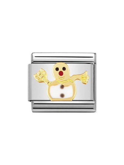 Nomination Classic Snowman Steel, Gold and Enamel Charm 030225-04