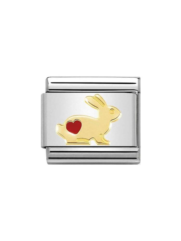 Nomination Classic Rabbit with Heart Charm 030272-46