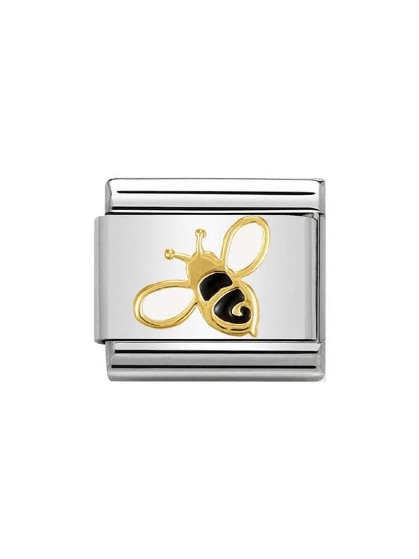 Nomination Classic Bee Steel, Gold and Enamel Charm 030278-01