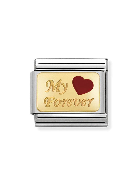 Nomination Classic My Forever Steel & Enamel Charm 030284-26