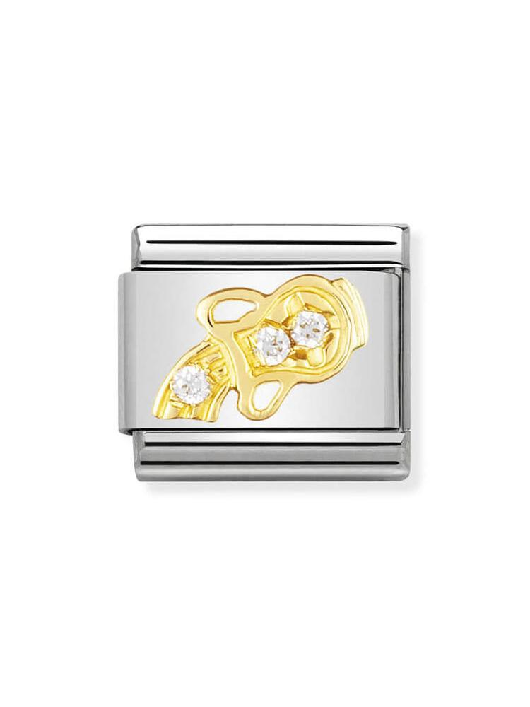 Nomination Classic Aquarius Stone Set Charm 030302-11