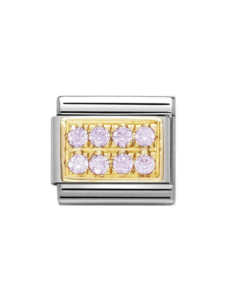 Nomination Classic Pink Pave Charm 030314-06
