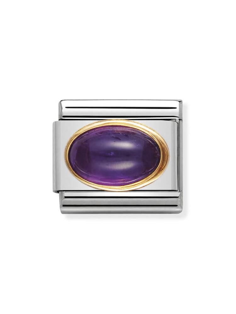 Nomination Classic Amethyst Oval Charm 030504-02
