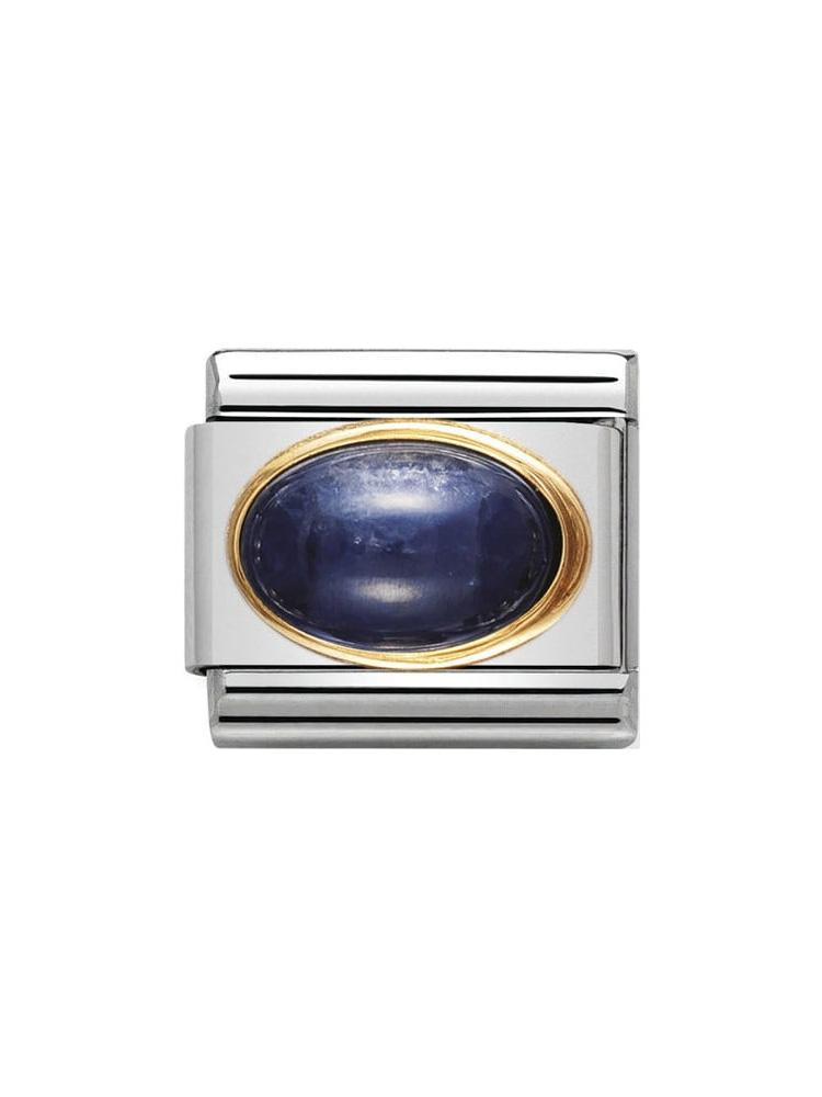 Nomination Classic Sapphire Oval Charm 030504-08