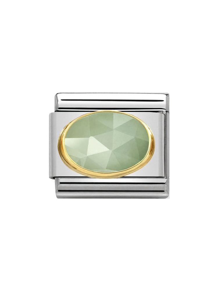 Nomination Classic Sage Green Faceted Jade Charm 030515-05