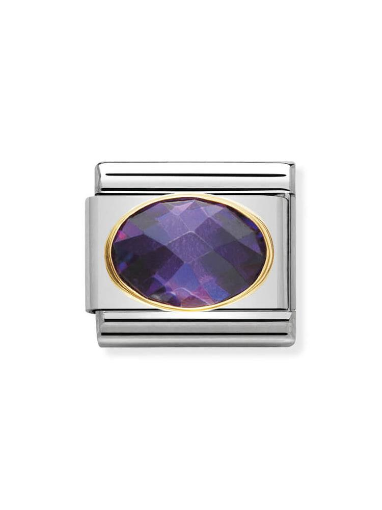 Nomination Classic Purple Faceted Zirconia Charm 030601-001