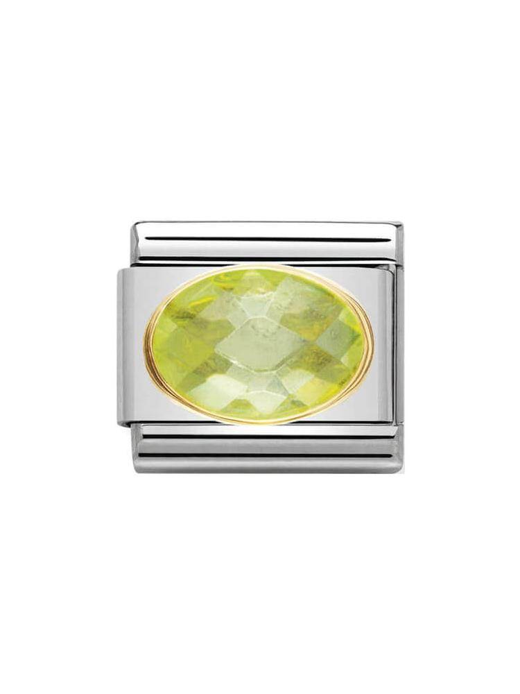 Nomination Classic Green Faceted Zirconia Charm 030601-004