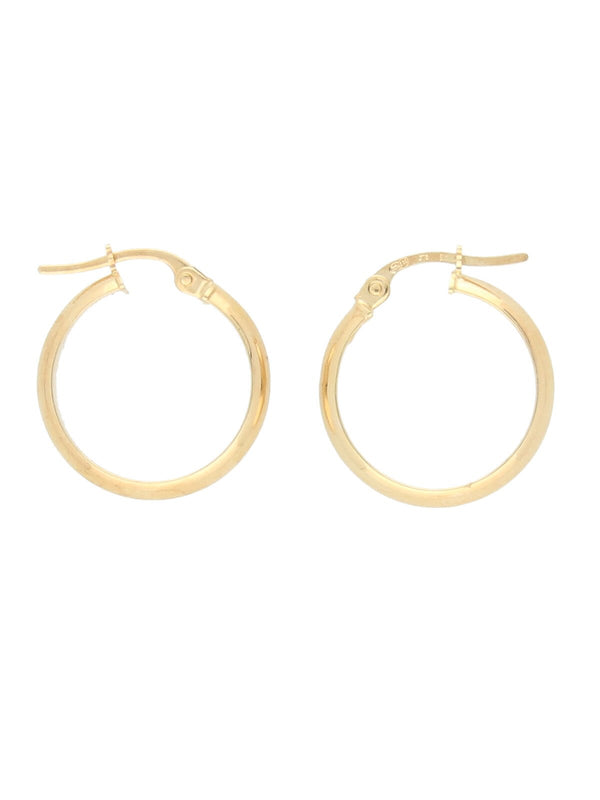 Plain Hoop Earrings in 9ct Yellow Gold