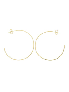 Large Hoop Stud Earrings in 9ct Yellow Gold 10-05-372