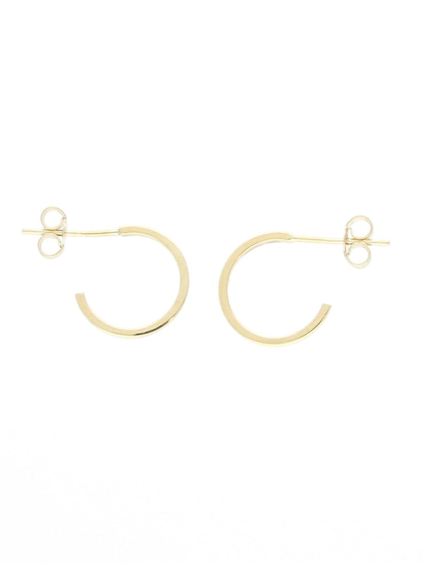Small Hoop Stud Earrings in 9ct Yellow Gold