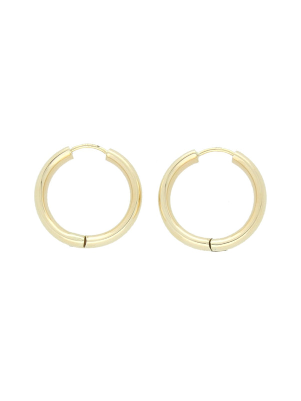 Hinged Hoop Earrings in 9ct Yellow Gold