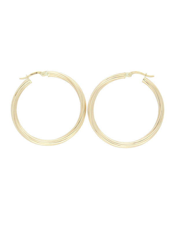 Twist Hoop Earrings in 9ct Yellow Gold