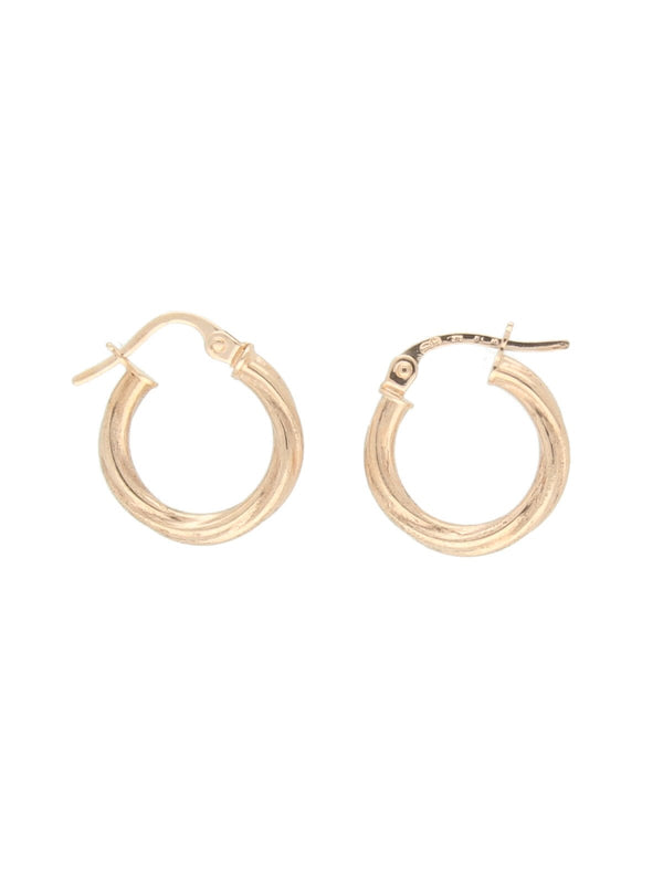 Hinged Twist Hoop Earrings in 9ct Rose Gold