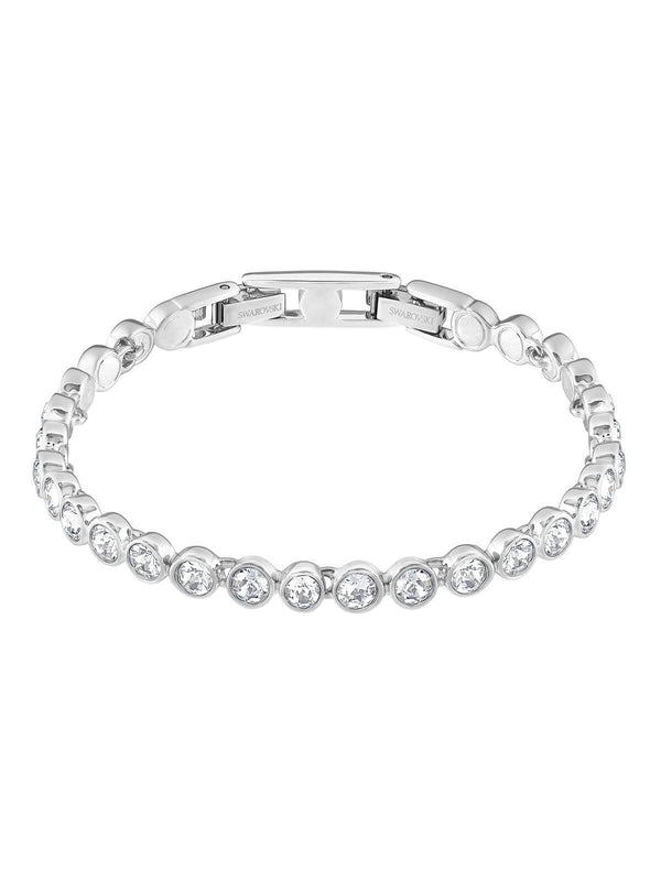 Swarovski Tennis Rhodium Plated and Clear Crystal Bracelet 1791305