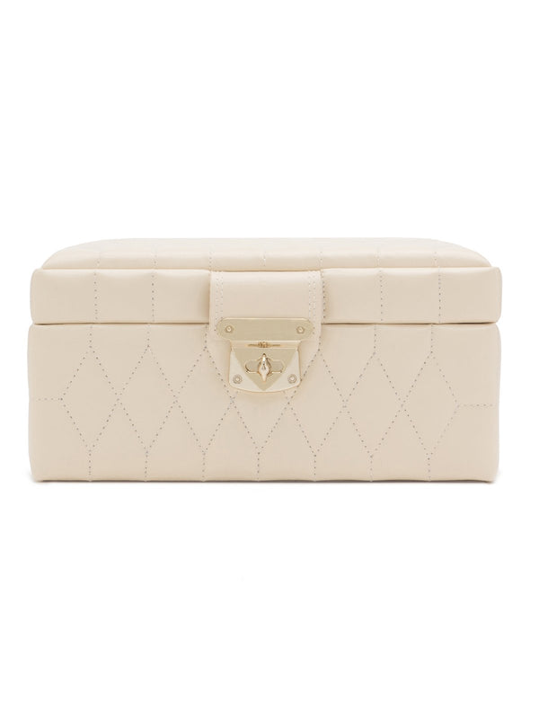 329853 Wolf Caroline Ivory Leather Small Jewellery Case