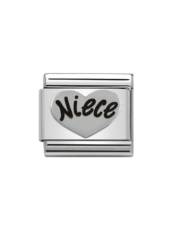 Nomination Classic Niece Steel, Silver and Enamel Charm 330101-16