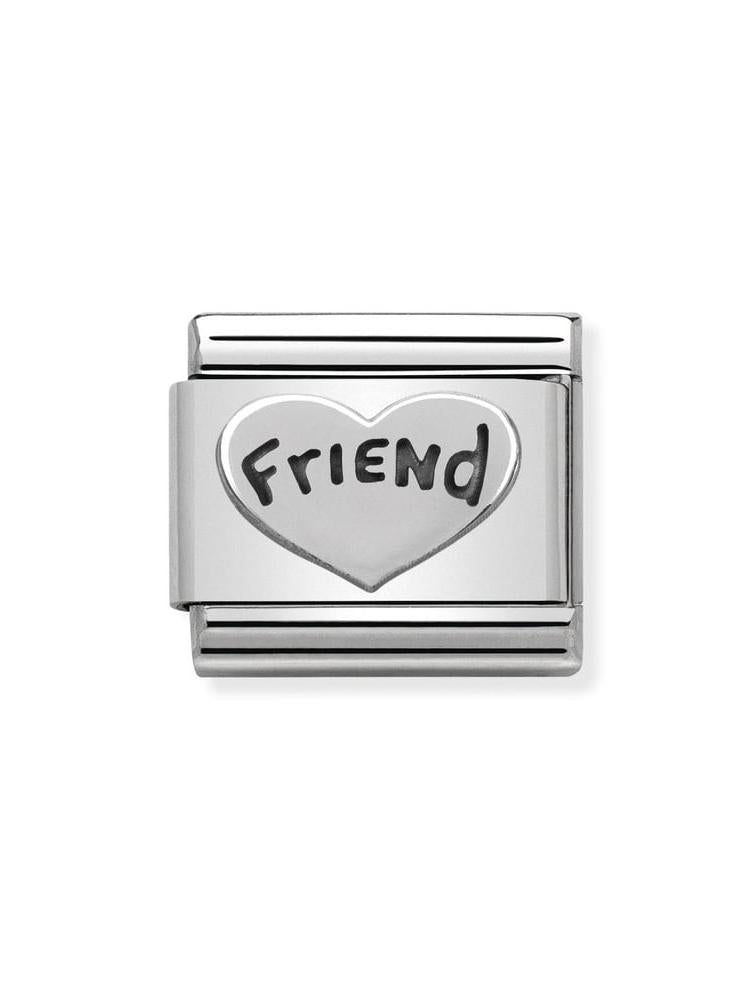 Nomination Classic Friend Heart Charm 330101-18