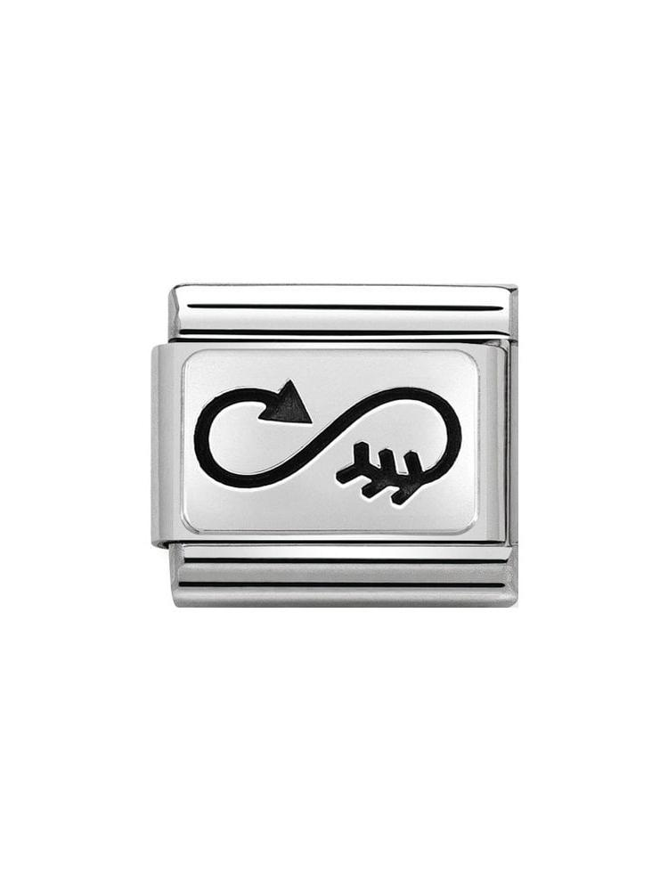 Nomination Classic Steel and Enamel Arrow Infinity Charm 330109-39