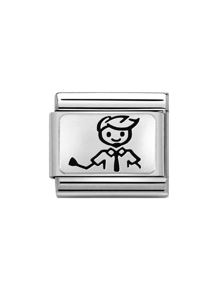Nomination Classic Steel and Silver Dad Charm 330109-47