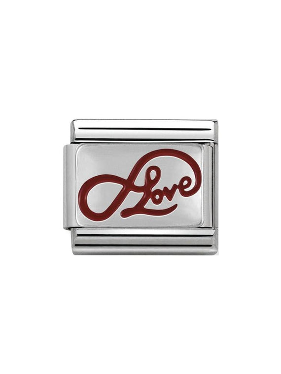 Nomination Classic Steel and Enamel Infinity Love Charm 330206-05