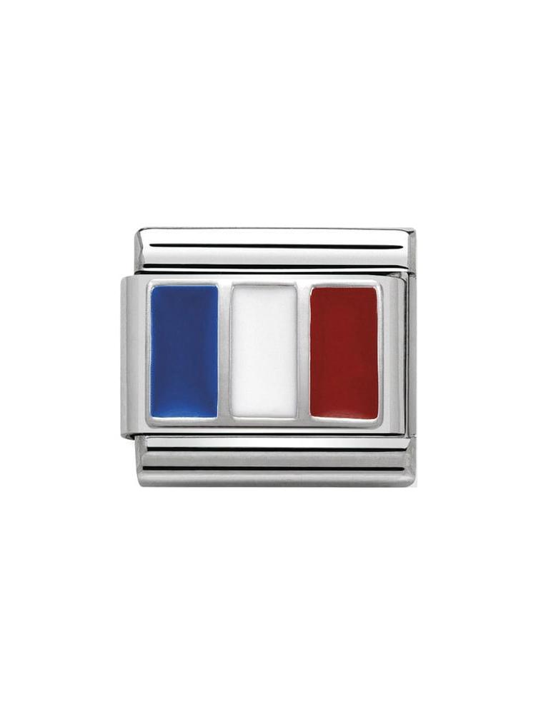 Nomination Classic France Steel, Silver and Enamel Charm 330207-12