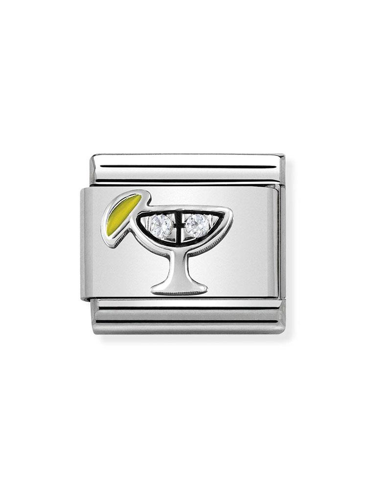 Nomination Classic Steel and Zirconia Cocktail Charm 330304-30