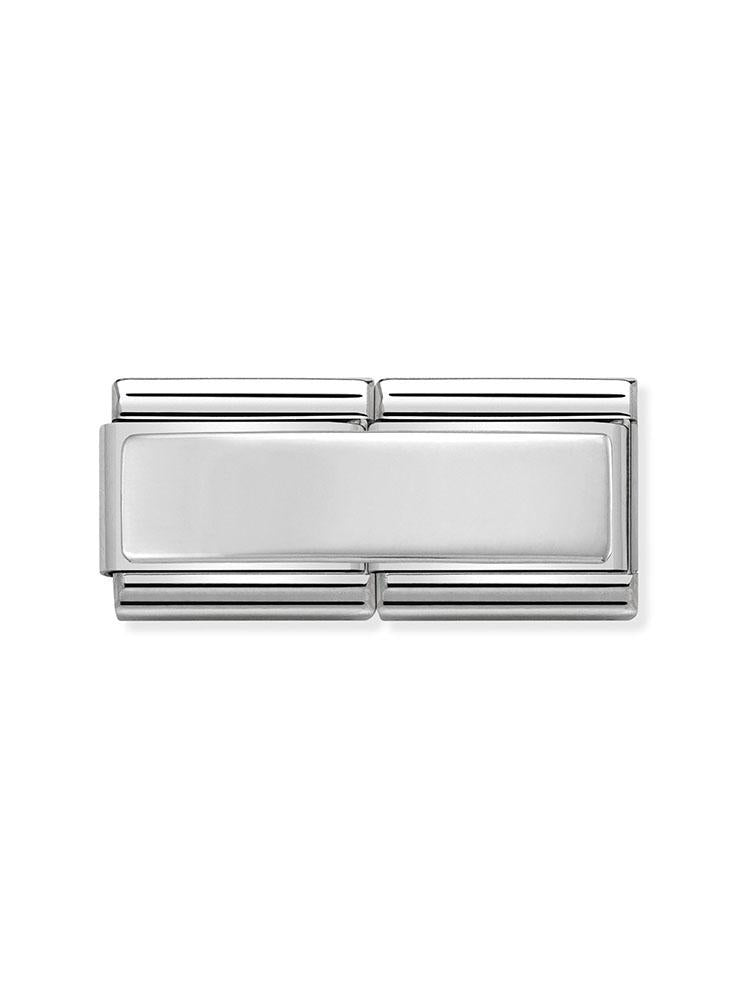 Nomination Classic Smooth Plate Steel and Silver Double Charm 330710-01