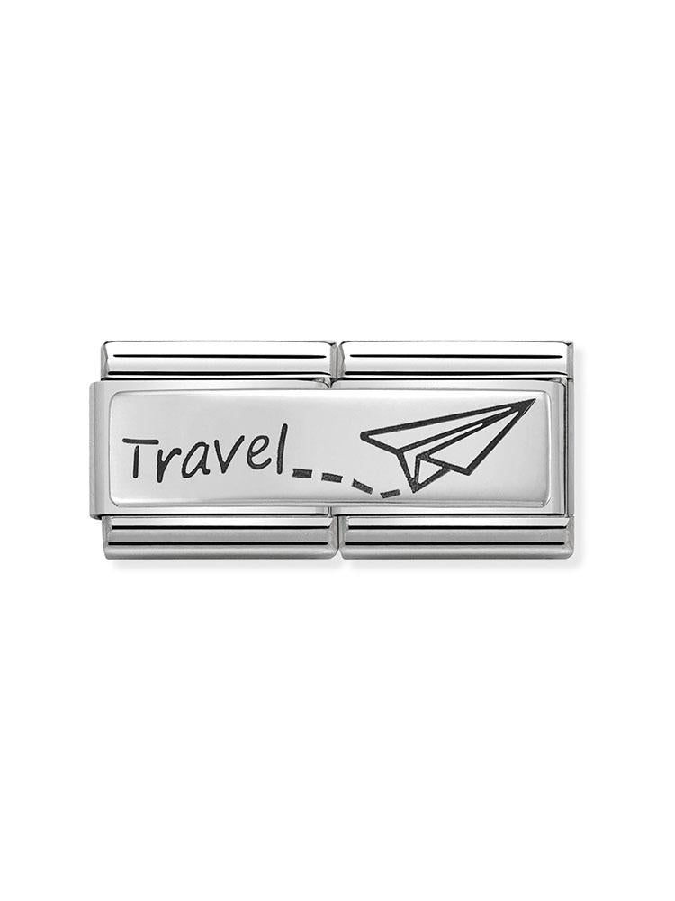 Nomination Classic Travel Steel and Silver Double Charm 330710-09