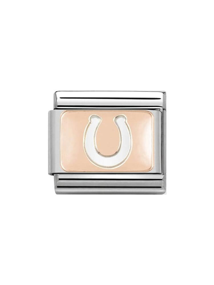 Nomination Classic Steel and Rose Gold Horseshoe Charm 430101-11