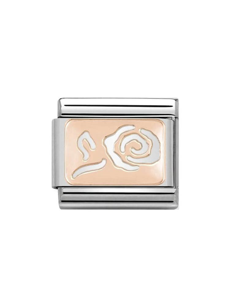 Nomination Classic Steel and Rose Gold Rose Charm 430101-13