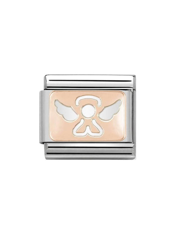 Nomination Classic Steel and Rose Gold Angel Charm 430101-14